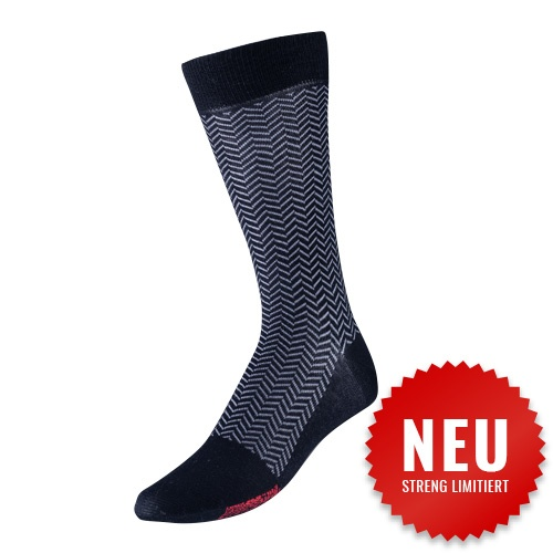Premium Herren Socken Fischgrätenmuster